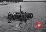 Image of Barney Connelt in tiny submarine Jacksonville Florida USA, 1941, second 6 stock footage video 65675028740