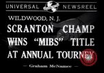 Image of Gerald Robinson wins National Marbles Tournament Wildwood New Jersey USA, 1941, second 1 stock footage video 65675028756