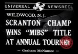 Image of Gerald Robinson wins National Marbles Tournament Wildwood New Jersey USA, 1941, second 4 stock footage video 65675028756