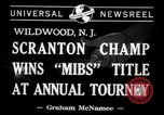 Image of Gerald Robinson wins National Marbles Tournament Wildwood New Jersey USA, 1941, second 5 stock footage video 65675028756