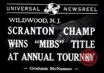 Image of Gerald Robinson wins National Marbles Tournament Wildwood New Jersey USA, 1941, second 6 stock footage video 65675028756