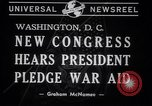 Image of President Franklin Roosevelt at 77th Congress Washington DC USA, 1941, second 2 stock footage video 65675028757