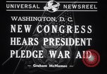 Image of President Franklin Roosevelt at 77th Congress Washington DC USA, 1941, second 3 stock footage video 65675028757