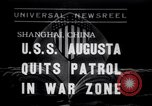 Image of Cruiser USS Augusta CA-31 Shanghai China, 1938, second 1 stock footage video 65675028764