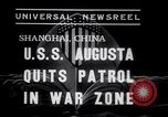 Image of Cruiser USS Augusta CA-31 Shanghai China, 1938, second 5 stock footage video 65675028764