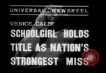 Image of Relna Brewster wrestles male opponent Venice Beach Los Angeles California USA, 1938, second 5 stock footage video 65675028765