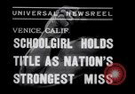 Image of Relna Brewster wrestles male opponent Venice Beach Los Angeles California USA, 1938, second 6 stock footage video 65675028765