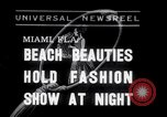 Image of models at Night fashion show Miami Florida USA, 1938, second 1 stock footage video 65675028767