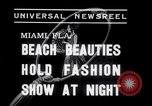 Image of models at Night fashion show Miami Florida USA, 1938, second 2 stock footage video 65675028767