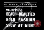 Image of models at Night fashion show Miami Florida USA, 1938, second 3 stock footage video 65675028767