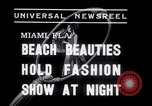Image of models at Night fashion show Miami Florida USA, 1938, second 4 stock footage video 65675028767