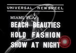 Image of models at Night fashion show Miami Florida USA, 1938, second 5 stock footage video 65675028767