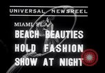 Image of models at Night fashion show Miami Florida USA, 1938, second 7 stock footage video 65675028767
