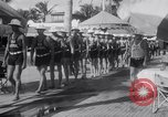 Image of Beach patrol officials and swimsuit models Miami Beach Florida USA, 1938, second 12 stock footage video 65675028768