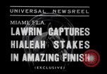 Image of American thoroughbred horse Lawrin at Flamingo Stakes Hialeah Florida USA, 1938, second 3 stock footage video 65675028770