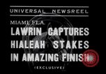 Image of American thoroughbred horse Lawrin at Flamingo Stakes Hialeah Florida USA, 1938, second 7 stock footage video 65675028770