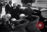 Image of Henry and Edsel Ford for luncheon meeting Washington DC USA, 1938, second 7 stock footage video 65675028773