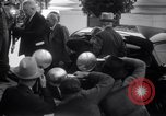Image of Henry and Edsel Ford for luncheon meeting Washington DC USA, 1938, second 8 stock footage video 65675028773