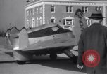 Image of Tailless Bumblebee Plane takes off Brooklyn New York City USA, 1938, second 11 stock footage video 65675028778