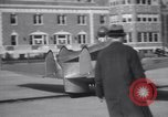 Image of Tailless Bumblebee Plane takes off Brooklyn New York City USA, 1938, second 12 stock footage video 65675028778