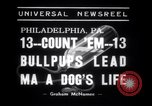 Image of Bulldog named Bright Beauty with her thirteen pups Philadelphia Pennsylvania USA, 1938, second 6 stock footage video 65675028779