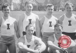 Image of University of Illinois Gymnasts Team perform gymnastics Champaign Illinois USA, 1938, second 7 stock footage video 65675028781