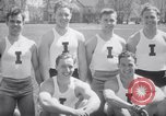 Image of University of Illinois Gymnasts Team perform gymnastics Champaign Illinois USA, 1938, second 8 stock footage video 65675028781