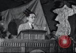 Image of Kim II Sung gives speech in meeting Pyongyang North Korea, 1948, second 1 stock footage video 65675028812