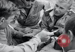 Image of US-Russian soldiers listen guitar Kaesong Korea 38th Parallel, 1945, second 9 stock footage video 65675028819