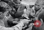 Image of US-Russian soldiers listen guitar Kaesong Korea 38th Parallel, 1945, second 11 stock footage video 65675028819