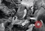 Image of US-Russian soldiers listen guitar Kaesong Korea 38th Parallel, 1945, second 12 stock footage video 65675028819