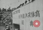Image of Sports festival at the Pyongyang Stadium Pyongyang North Korea, 1948, second 2 stock footage video 65675028837