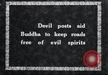 Image of Devil Post in crop field Korea, 1936, second 2 stock footage video 65675028853