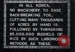 Image of threshing Korea, 1936, second 11 stock footage video 65675028861