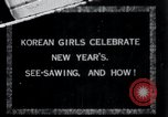 Image of Korean girls Korea, 1936, second 1 stock footage video 65675028868