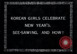 Image of Korean girls Korea, 1936, second 2 stock footage video 65675028868