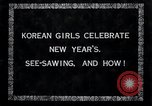 Image of Korean girls Korea, 1936, second 4 stock footage video 65675028868