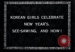 Image of Korean girls Korea, 1936, second 6 stock footage video 65675028868