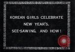 Image of Korean girls Korea, 1936, second 8 stock footage video 65675028868