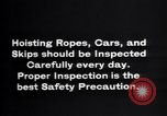 Image of inspection of hoisting ropes Franklin New Jersey USA, 1914, second 10 stock footage video 65675028926