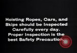 Image of inspection of hoisting ropes Franklin New Jersey USA, 1914, second 12 stock footage video 65675028926