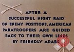 Image of US Parachute troops Tebourba Tunisia, 1943, second 3 stock footage video 65675028997