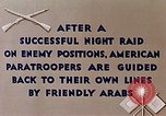 Image of US Parachute troops Tebourba Tunisia, 1943, second 7 stock footage video 65675028997