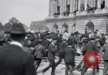 Image of large crowd Versailles France, 1919, second 5 stock footage video 65675029030