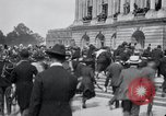 Image of large crowd Versailles France, 1919, second 6 stock footage video 65675029030