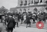 Image of large crowd Versailles France, 1919, second 8 stock footage video 65675029030