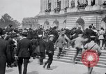 Image of large crowd Versailles France, 1919, second 9 stock footage video 65675029030