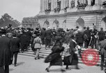Image of large crowd Versailles France, 1919, second 11 stock footage video 65675029030