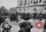 Image of large crowd Versailles France, 1919, second 12 stock footage video 65675029030