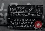 Image of released American prisoners Grasleben Germany, 1945, second 1 stock footage video 65675029046